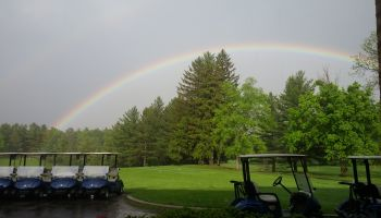 May 2017 Double Rainbow over carts